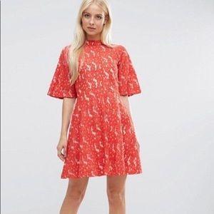 Kimono sleeve mini skater dress